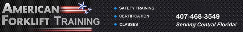Forklift safety training, aerial equipment training, sales and service in Orlando, Florida.