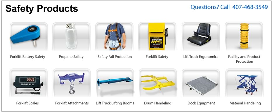 Safety Products Lift Truck Forklift Orlando Fl